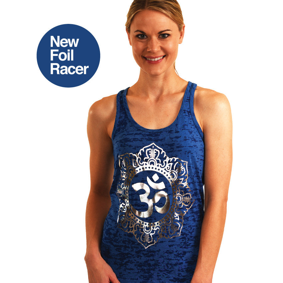 OM CIRCLE FOIL ROYAL BURNOUT RACER TANK