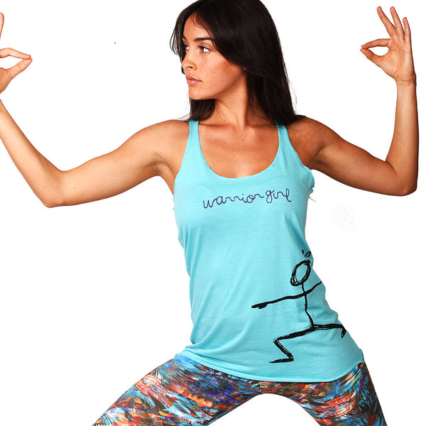 WARRIOR GIRL TRIBLEND RACER TANK