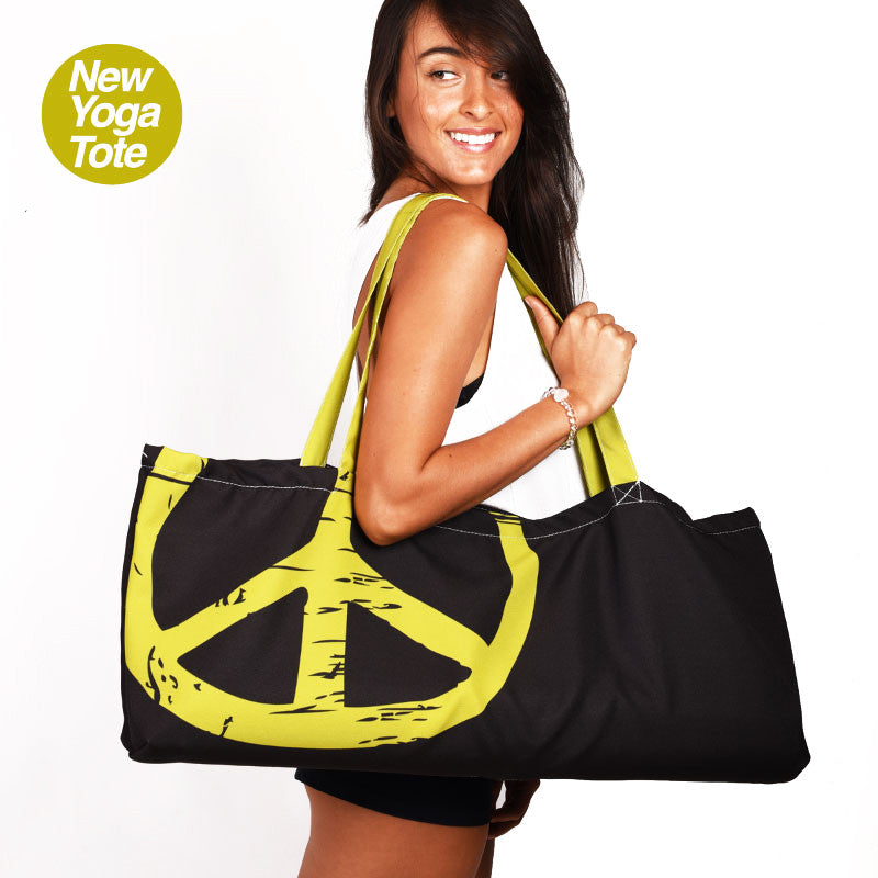 PEACE SHANTI WATERPROOF RECYCLED YOGA TOTE BAG  30X10