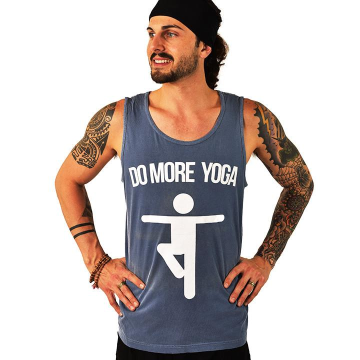 DO MORE YOGA ~ BLUE MEN PIGMENT DYE TANK