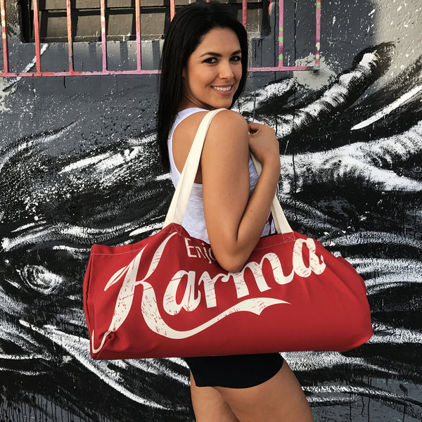 ENJOY KARMA WATERPROOF RECYCLED YOGA TOTE BAG  30X10