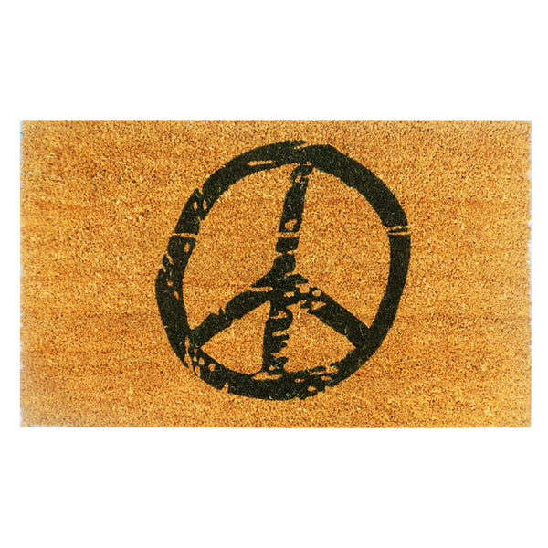Peace Sign Printed Door Mat