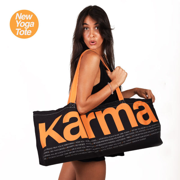 KARMA WATERPROOF RECYCLED YOGA TOTE BAG  30X10