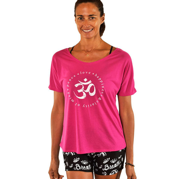 CLARITY SCOOP FLOWY TEE FY120-SFT-FU - Funky Yoga  Gear & Accessories
