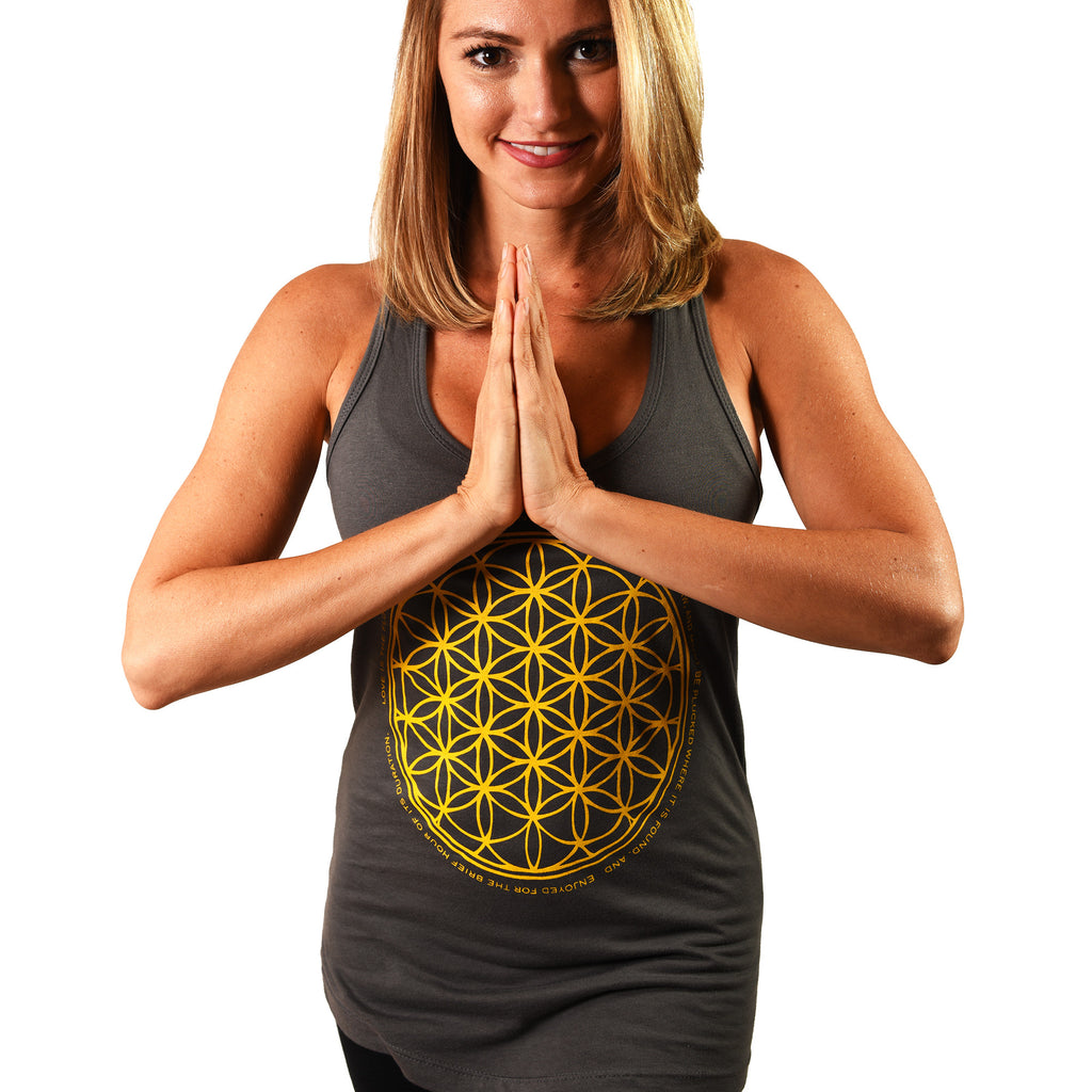FLOWER OF LIFE COTTON RACER TANK