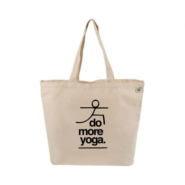 DO MORE YOGA 8 OZ ORGANIC TOTE 19x16