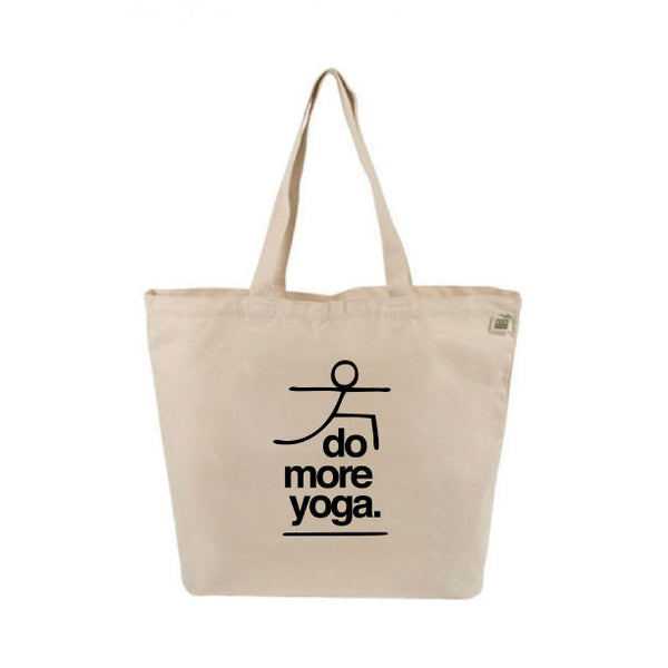 DO MORE YOGA 8 OZ ORGANIC TOTE 19x16 - Funky Yoga  Gear & Accessories