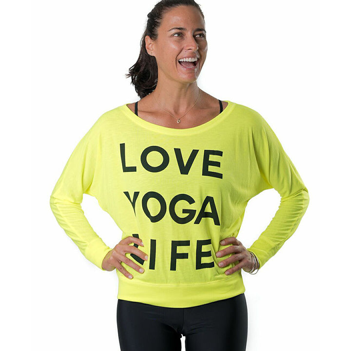LOVE LIFE NEON YELLOW CLASSIC FLOWY LONG