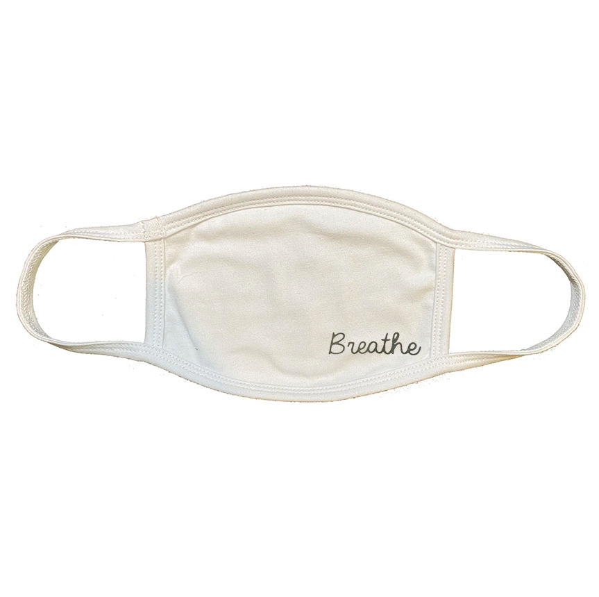 2-PLY UNISEX BREATHE WHITE CLOTH PROTECTIVE MASK  ~ SHIPS IMMEDIATELY