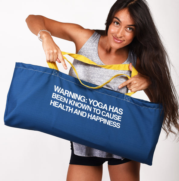 BREATHE WATERPROOF RECYCLED YOGA TOTE BAG  30X10 - Funky Yoga  Gear & Accessories