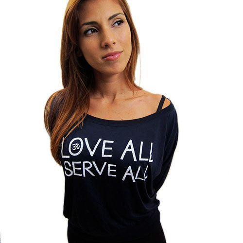 LOVE ALL SERVE ALL~ BLACK WOMAN FLOWY LONG SLEEVES