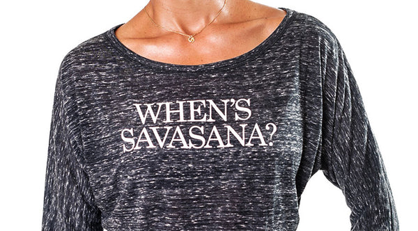 WHEN IS SAVASANA MARBLE BLACK CLASSIC FLOWY LONG