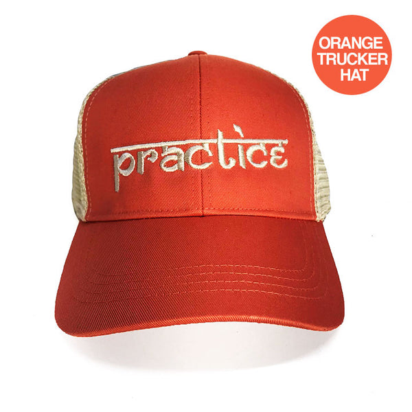 PRACTICE ORANGE ECO UNISEX TRUCKER MESH CAP