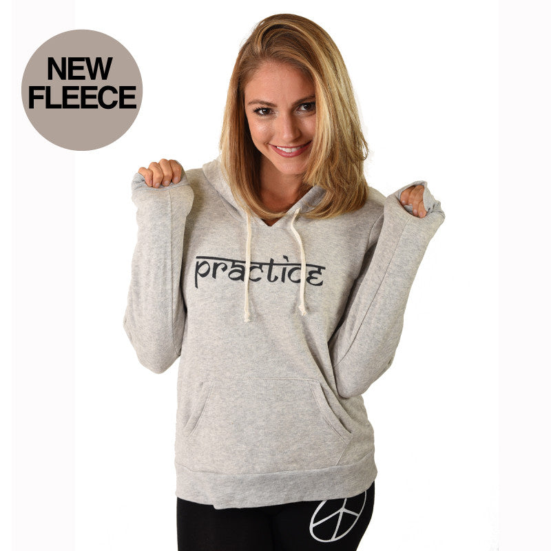 PRACTICE HEATHER WHITE FLEECE TRIBLEND HOODIE
