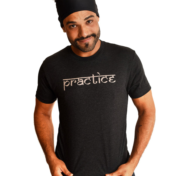 PRACTICE ~  MENS FITTED SHEER COTTON CREW T-SHIRT
