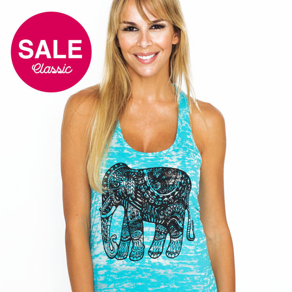 TRIBAL ELEPHANT BURNOUT RACER  FY198-GRT-AQ - Funky Yoga
