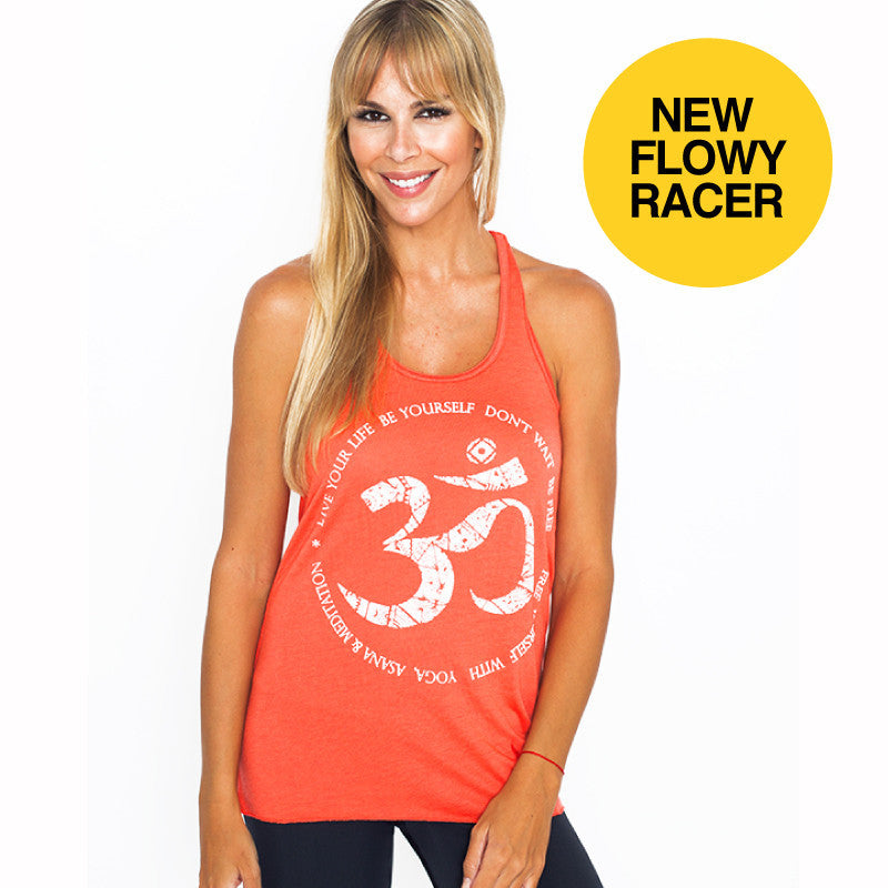 FREE YOURSELF FLOWY RACER TANK - Funky Yoga  Gear & Accessories