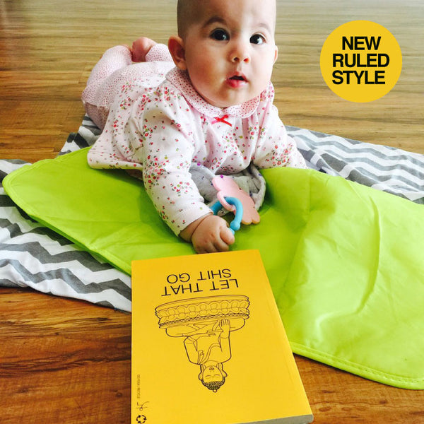 LET THAT YELLOW 100% POST CONSUMER RECYCLED RULED NOTEBOOK - Funky Yoga  Gear & Accessories