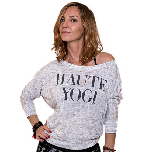 HAUTE YOGI ~  MARBLE WHITE FLOWY LONG SLEEVES