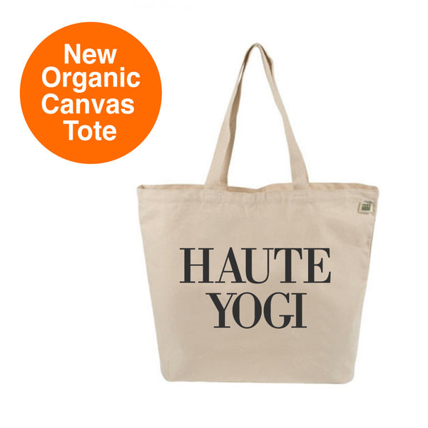 HAUTE YOGI 8 OZ ORGANIC TOTE 19x16 - Funky Yoga  Gear & Accessories