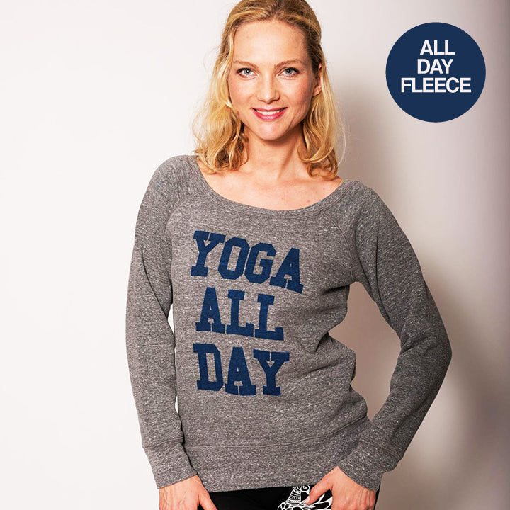 YOGA ALL DAY OFF THE SHOULDER TRI BLEND FLEECE