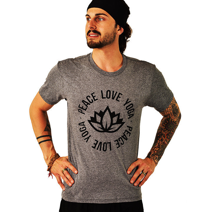 PEACE LOTUS TRIBLEND CREW T FY232-TMC-HG - Funky Yoga