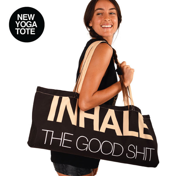 INHALE / EXHALE WATERPROOF RECYCLED YOGA TOTE BAG  30X10 - Funky Yoga  Gear & Accessories