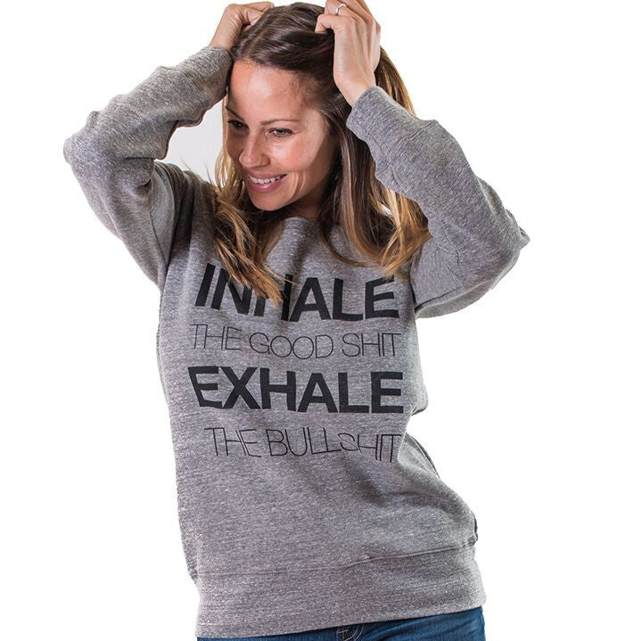 INHALE OFF THE SHOULDER TRI BLEND FLEECE - Funky Yoga  Gear & Accessories