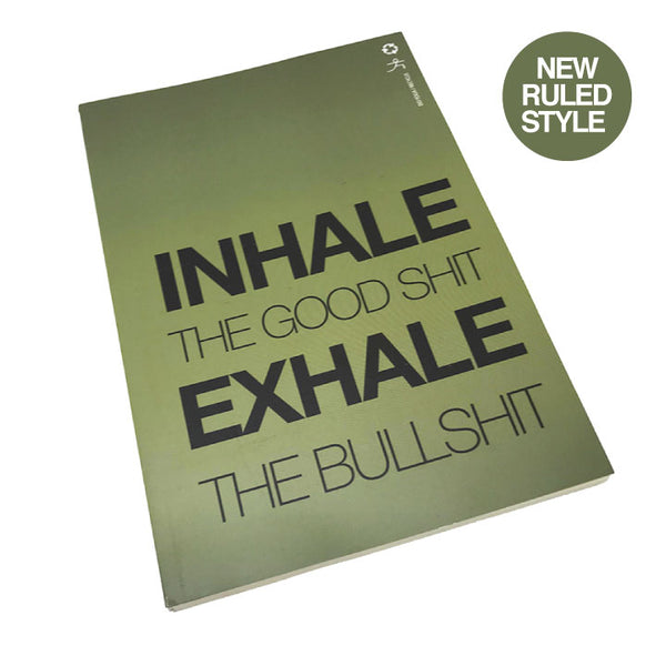 INHALE EXHALE 100% POST CONSUMER RECYCLED RULED NOTEBOOK - Funky Yoga  Gear & Accessories