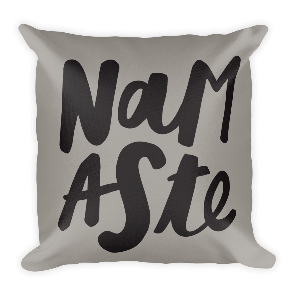 NAMASTE COOL SQUARE PILLOW CASE W/INSERT  18X18