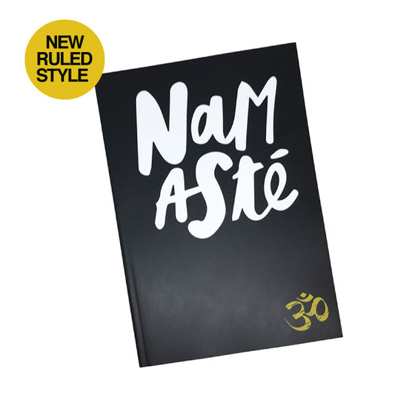NAMASTE OM 100% POST CONSUMER RECYCLED RULED NOTEBOOK