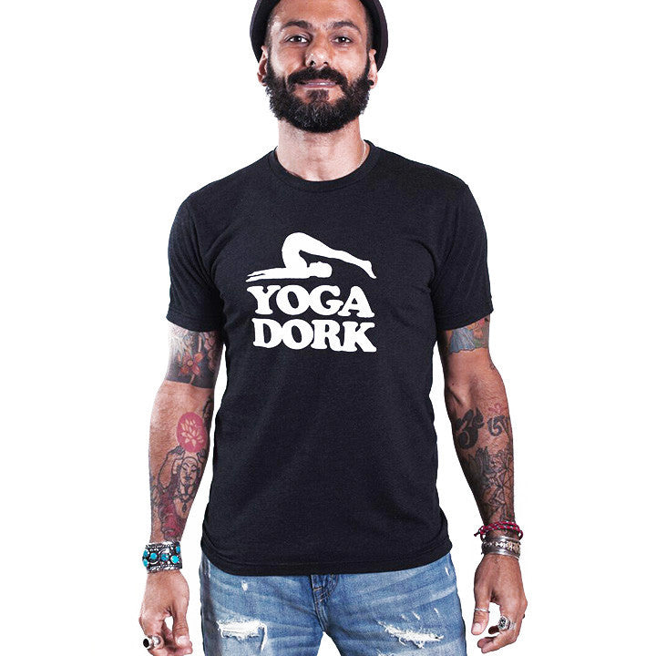 YOGA DORK MENS TRIBLEND CREW T FY256-TMC-BK - Funky Yoga  Gear & Accessories