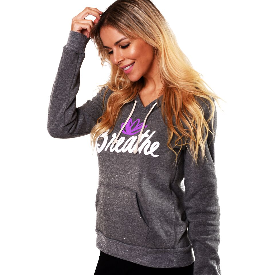 BREATHE LOTUS FLEECE TRIBLEND HOODIE
