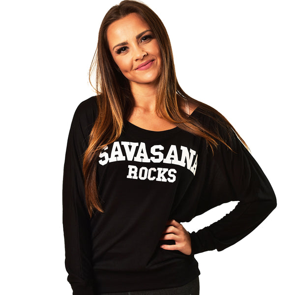SAVASANA ROCKS BLACK CLASSIC FLOWY LONG