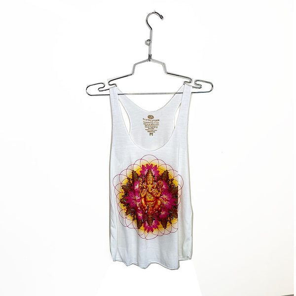GANESH LOTUS ~ NATURAL TRIBLEND RACER TANK