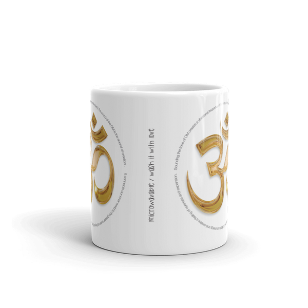 AUM SOUNDS CERAMIC COFFEE MUG 11oz - Funky Yoga  Gear & Accessories