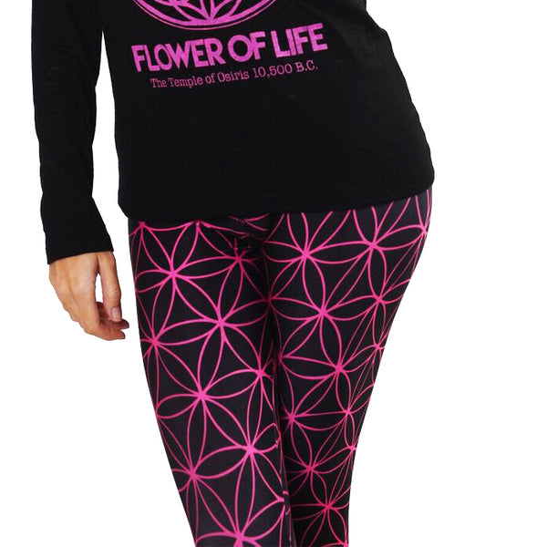 FLOWER OF LIFE ~ MID WAIST YOGA LEGGINGS (ONLY S)
