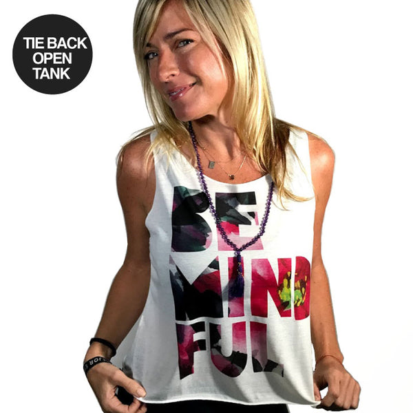 BE MINDFUL ~ NATURAL TIE BACK OPEN TOP