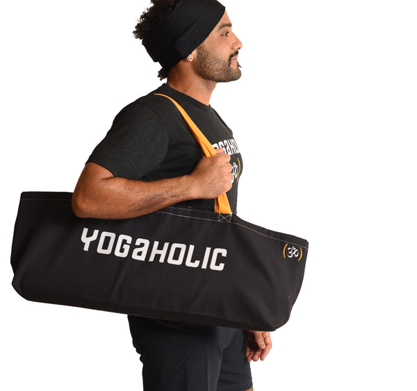 YOGAHOLIC FUNKY YOGA WATERPROOF RECYCLED TOTE BAG   FY310-FYT-BK