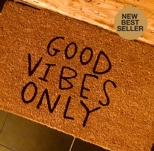 Good Vibes Printed Door Mat - Funky Yoga  Gear & Accessories