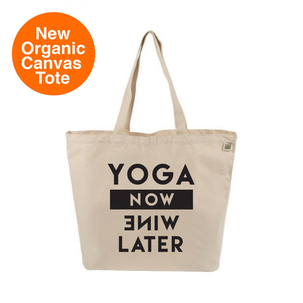 YOGA NOW 8 OZ ORGANIC TOTE 19x16 FY323-ORT-NT