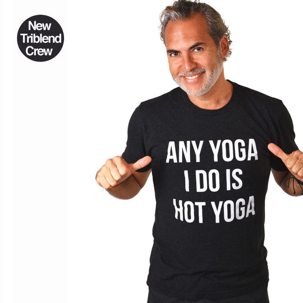 ANY YOGA BLACK MENS TRIBLEND CREW T-SHIRT - Funky Yoga  Gear & Accessories