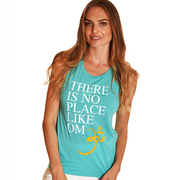 LIKE OM FLOWY AQUA MUSCLE TANK - Funky Yoga  Gear & Accessories