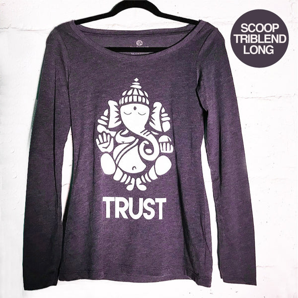 GANESH TRUST HEATHER PLUM SCOOP TRIBLEND LONG - Funky Yoga  Gear & Accessories
