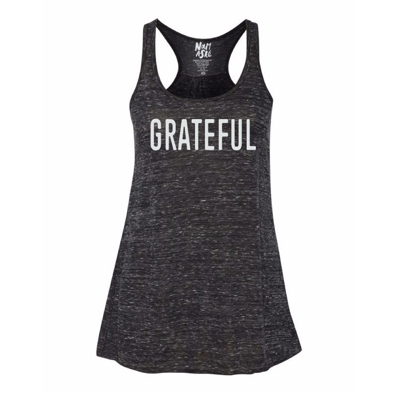 GRATEFUL NEW MARBLE FLOWY RACER TANK - Funky Yoga  Gear & Accessories