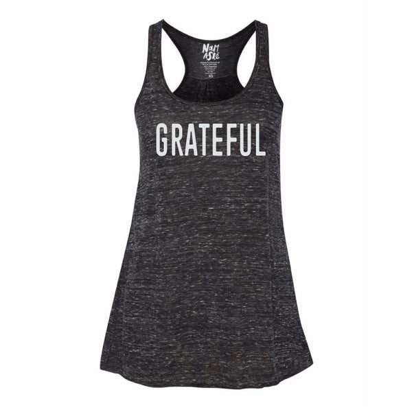 GRATEFUL NEW MARBLE FLOWY RACER TANK