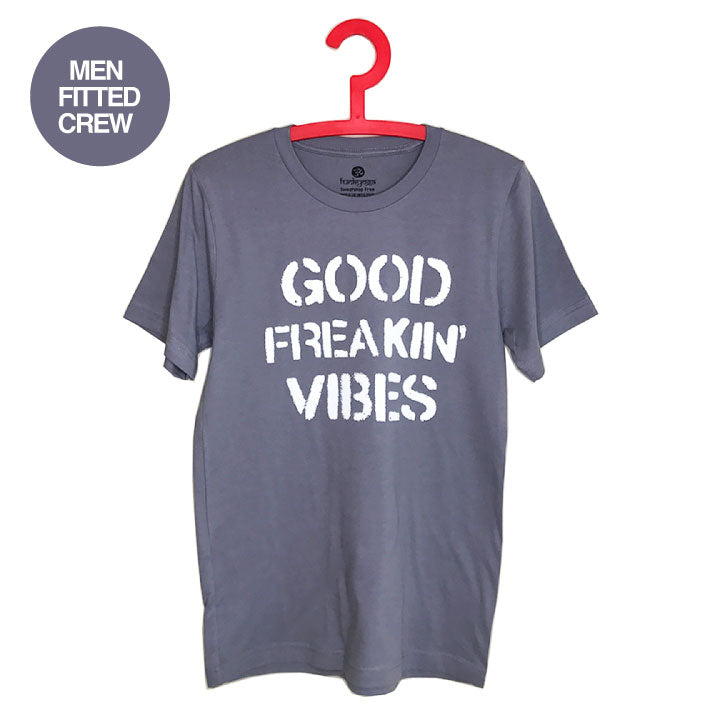 FREAKING VIBES ~  STORM MEN SHEER JERSEY FITTED CREW T-SHIRT