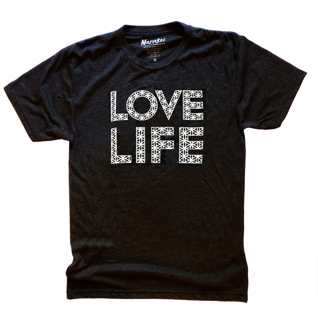 LOVE LIFE  MENS TRIBLEND CREW T-SHIRT - Funky Yoga  Gear & Accessories