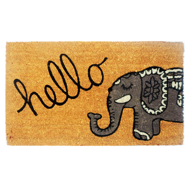 Hello Printed Door Mat - Funky Yoga  Gear & Accessories