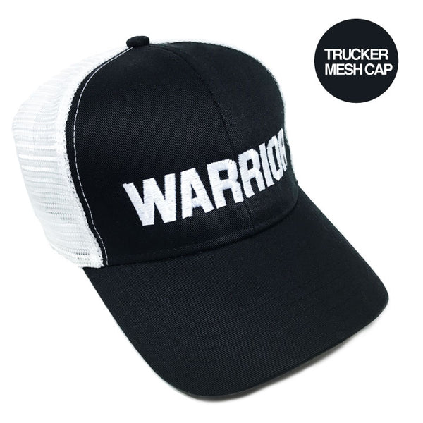 WARRIOR BLACK ECO UNISEX TRUCKER MESH CAP